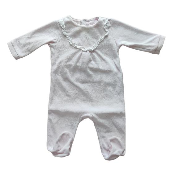 Jacadi Pink Velvet Babygrow