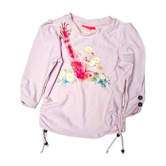Sunuva Girls Rash Vest Pink with birds