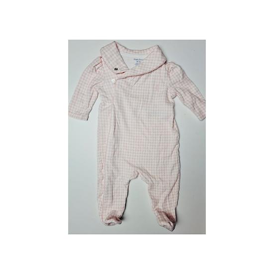 Ralph Lauren Pink Houndstooth Babygrow