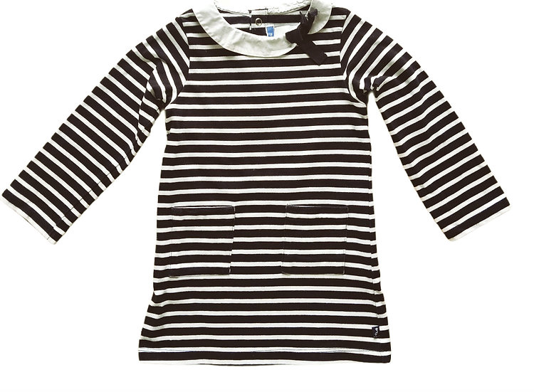 Jacadi Navy & White Stripped Dress