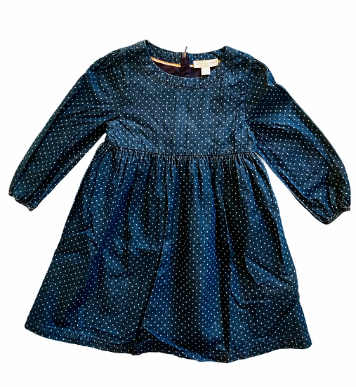 The Little White Company Long Sleeve Denim Dress with Stars