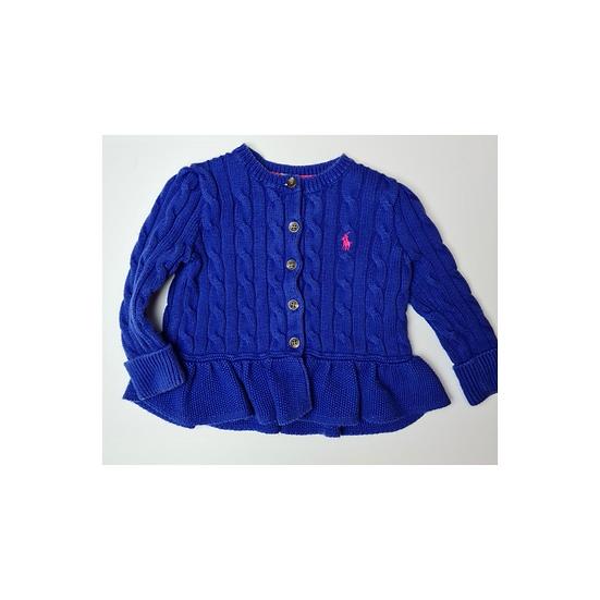 Ralph Lauren Cable Knit Cardigan Blue