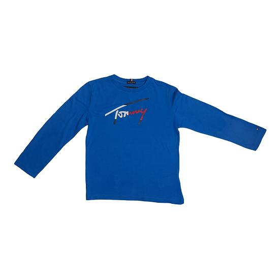 Tommy Hilfiger Long Sleeve Blue Tshirt