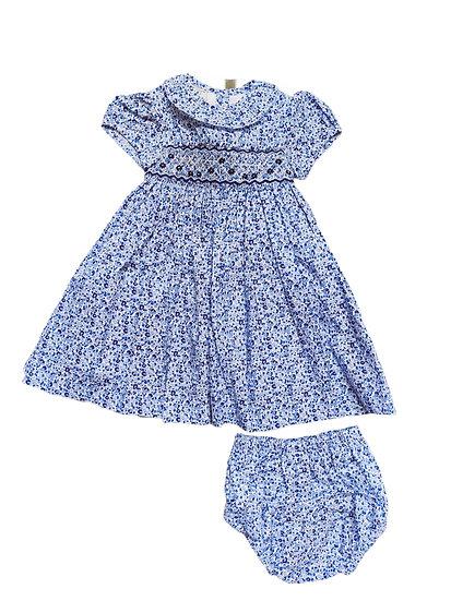 Little Larks Blue Floral Dress