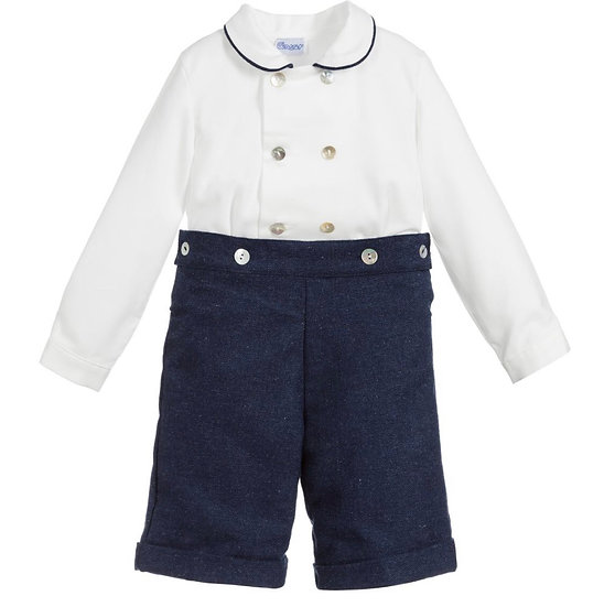 Ancar Ivory & Blue Buster Suit