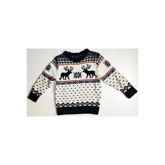 Ralph Lauren Cream Heavy Knit with Reindeer