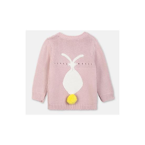 Stella Mc Cartney Kids Rabbit Jumper in Dusky Pink