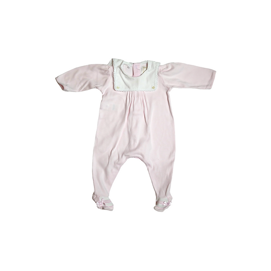 Emile et Rose Pink Onsie with White Sailor Collar and ballet feet