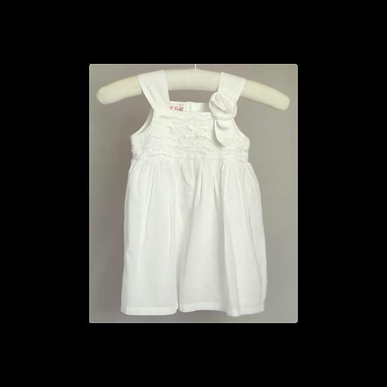 Powell Craft white cotton summer dress