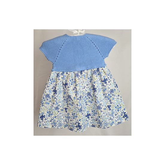Pepa & Co. Blue Floral Dress with Knit Top