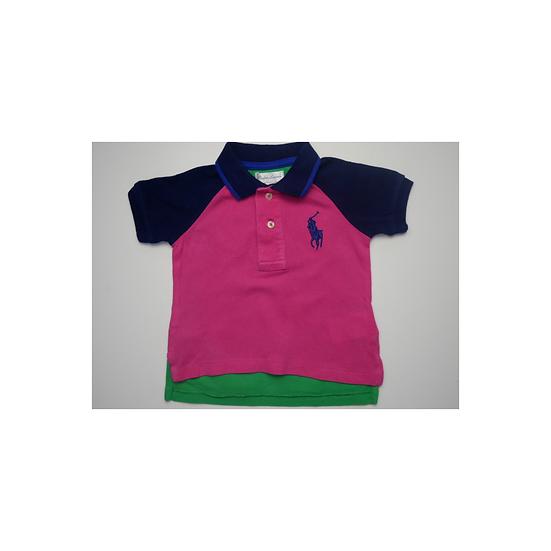 Ralph Lauren Colour Block Cotton Polo T Shirt