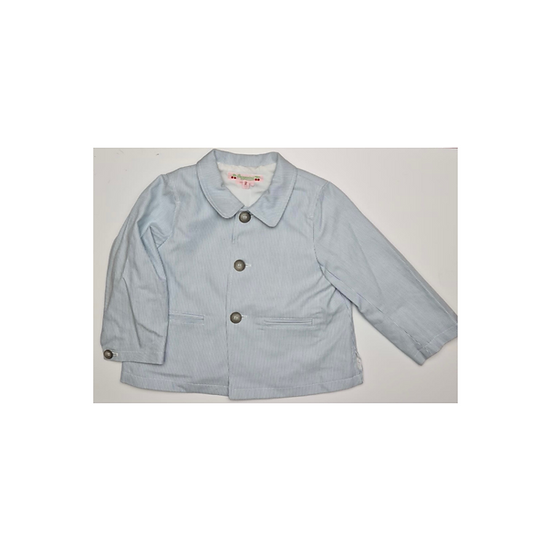 Bonpoint blue and white pinstripe blazer