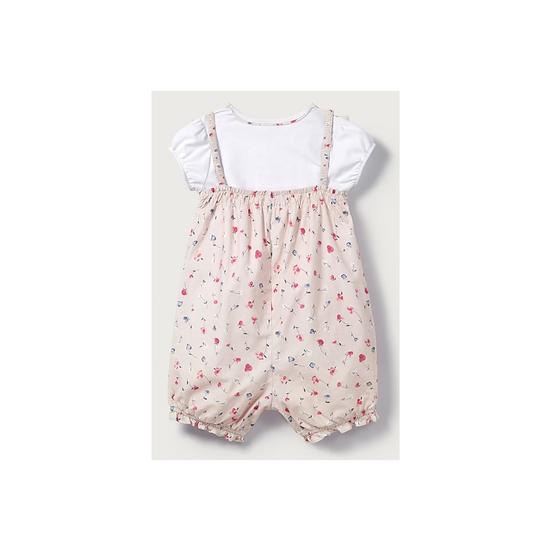 The Little White Company Ella pink floral romper