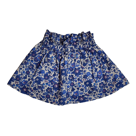 Marie Chantal blue and white liberty style print skirt