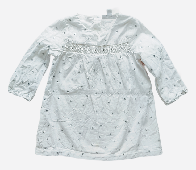 The Little White Company White Dress with silver stars
