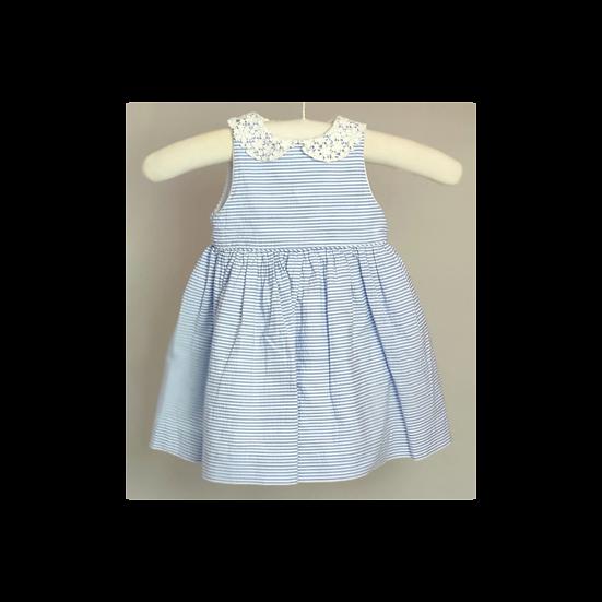 Ralph Lauren Blue and White Stripe Dress