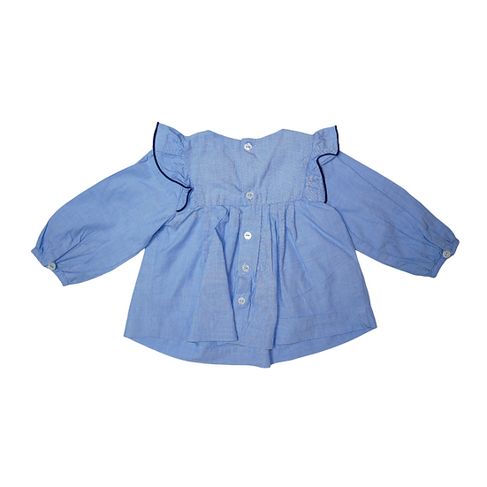 Jacadi Blue shirt with frills