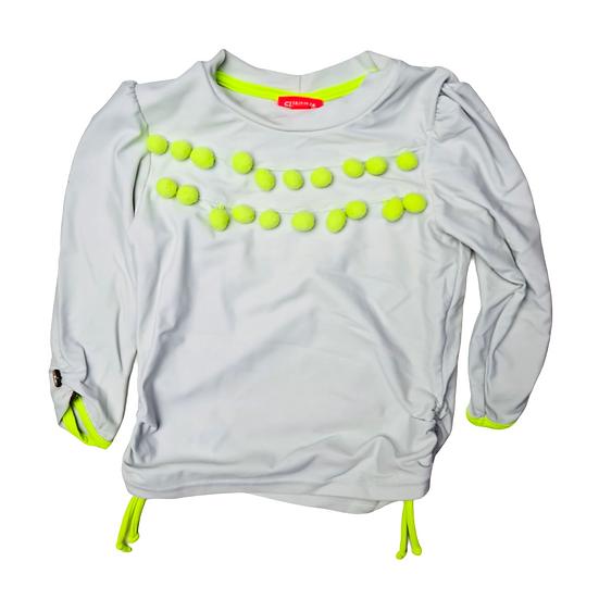Sunuva Grey Rash Vest with Luminous Yellow balls and trim
