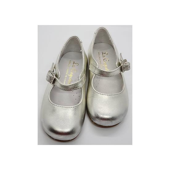 La Coqueta Silver Mary Janes