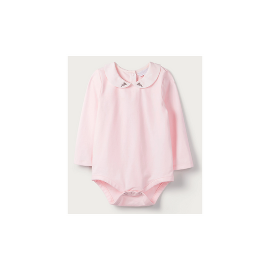 The Little White Company bunny embroidered collar bodysuit