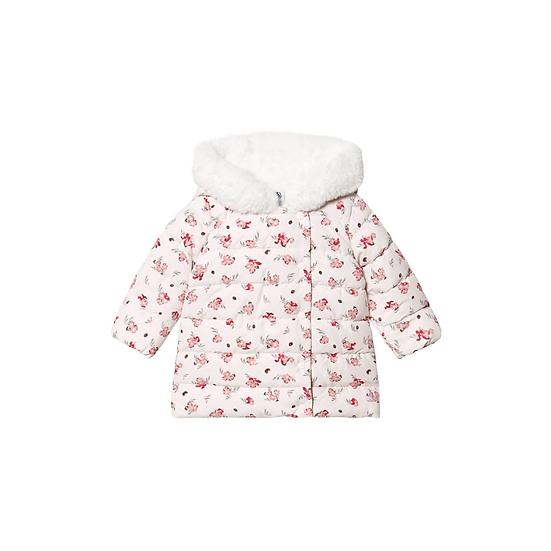 Petit Bateau Floral Puffer Jacket Fleur PInk