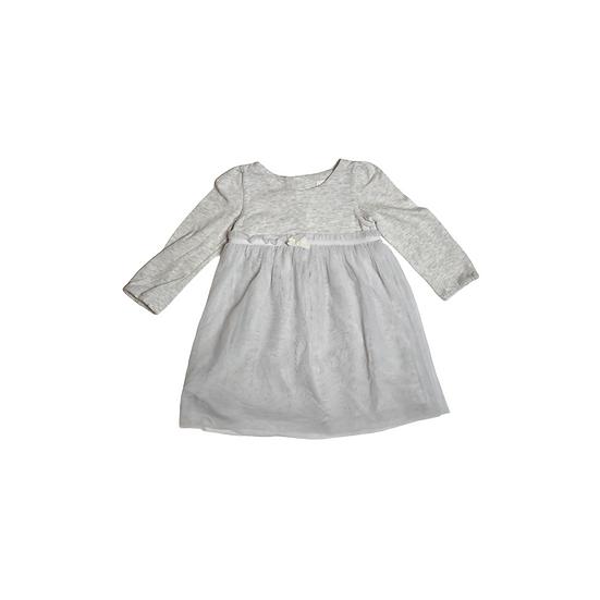 The White Company Jersey Tutu Dress in Grey