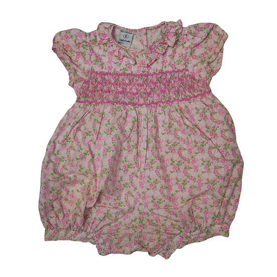 Little Larks Pink Liberty Print Shorts Onsie