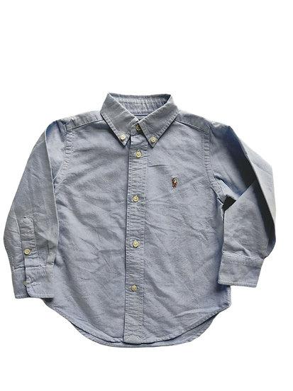 Ralph Lauren Boys Blue Cotton Oxford Shirt