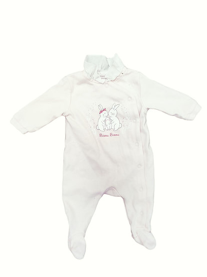 Carrement Beau Baby Pink Babygrow with Frill Collar