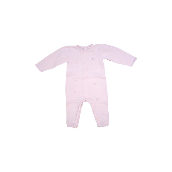Emile et Rose Footless Pink Knit Babygrow with baubles