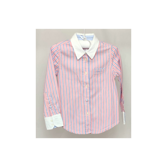 Gant boys shirt pink and blue stripe