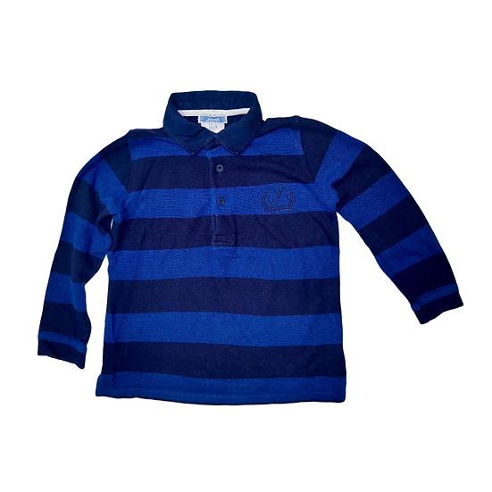 Jacadi Navy and Blue Stripped Long Sleeve Aertex