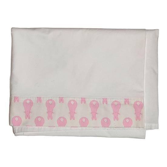 The Nursery Window Cot bed sheet - Rabbit trellis pink
