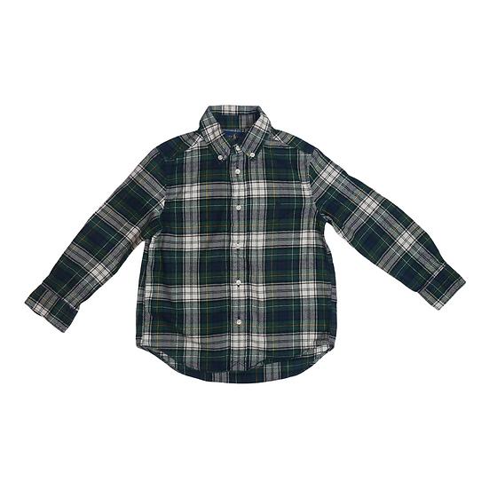 Ralph Lauren Oxford Flannel Shirt Green Check