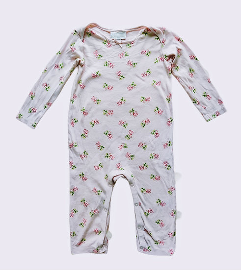 The Little White Company Rose Print Sleepsuit