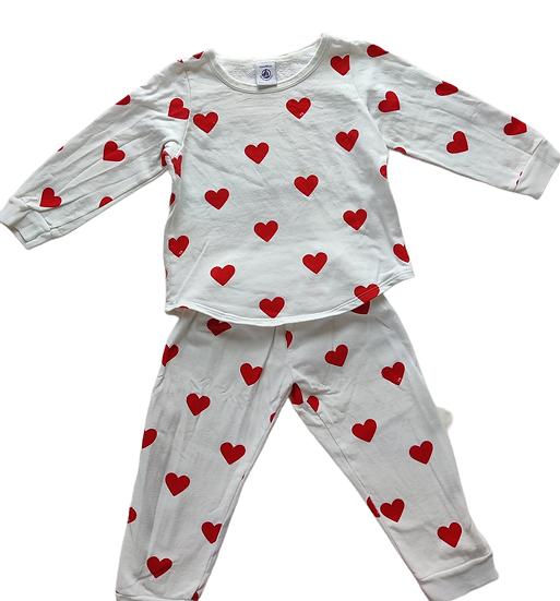 Petit Bateau Pyjamas with heart print