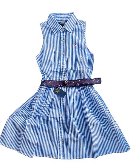 Ralph Lauren Shirt Dress Blue with white stripe