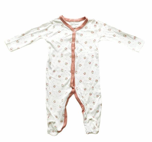 The Little White Company Babygrow with mistletoe design