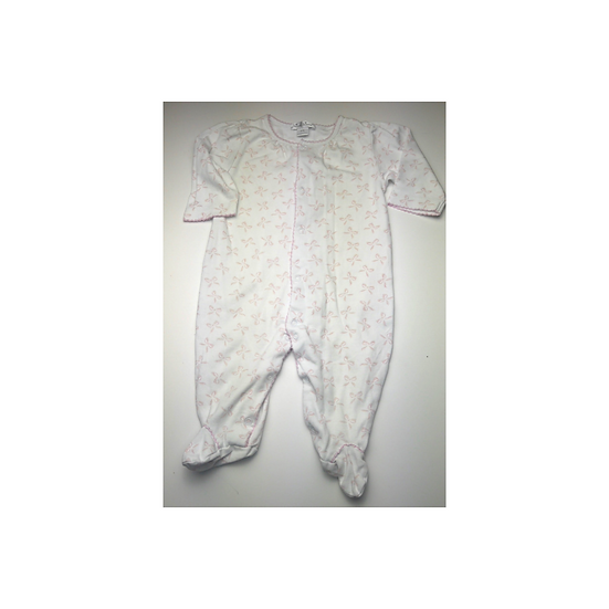 Kissy Kissy White Cotton Babygrow with Pink Bows