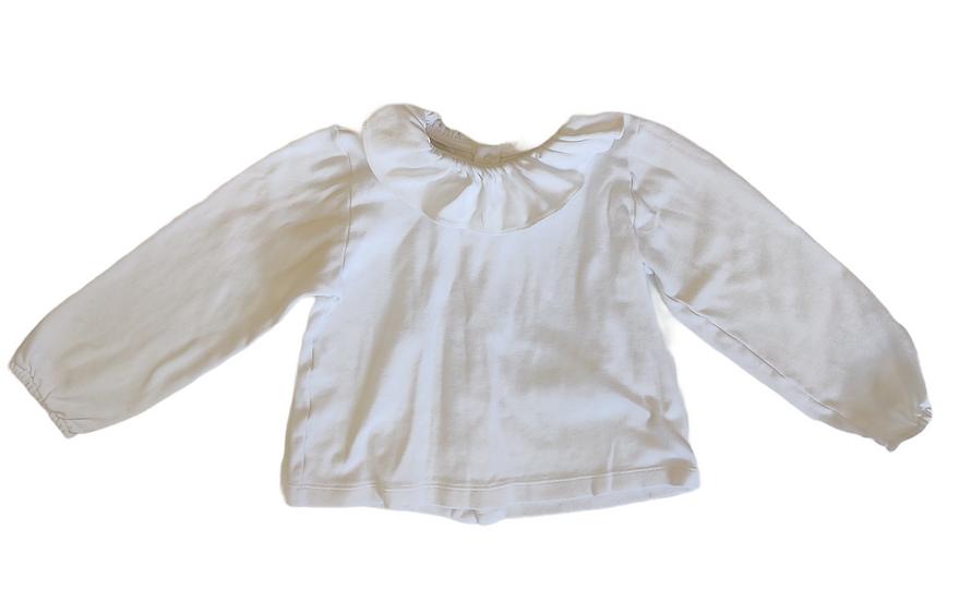 Bibidu White Frill Collar T-shirt