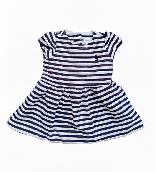 Ralph Lauren Navy and White Stripped Dress