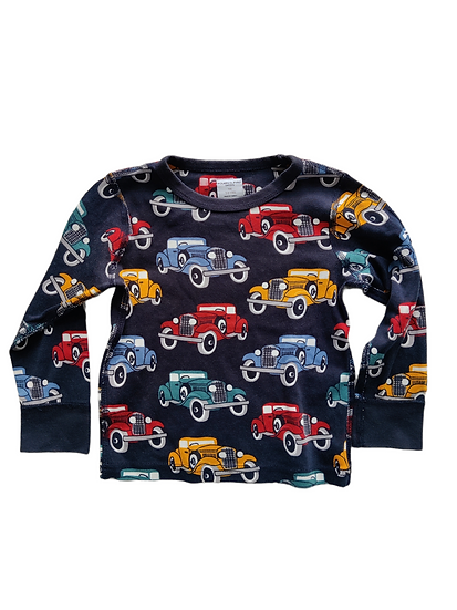 Polarn O Pyret Navy Top with Cars