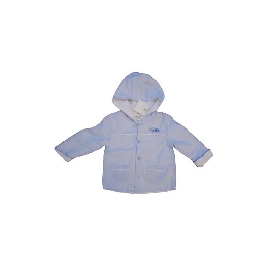 Mintini Baby Blue & White striped jacket