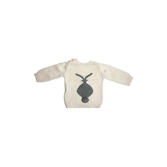 Stella Kids Cream Knit with Grey Bunny on Back