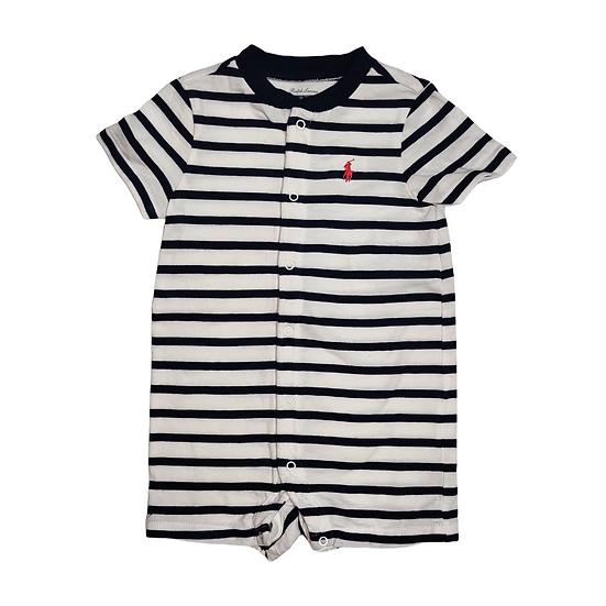 Ralph Lauren Navy and white striped shorts romper