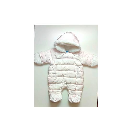 Jacadi Baby Pink Pramsuit with white fur