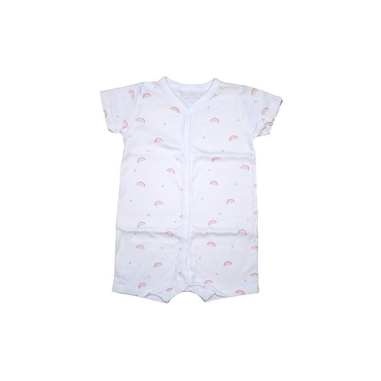 The Little White Company Shorts Babygrow with rainbow