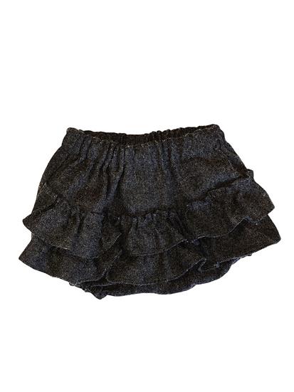 Benedita Grey Frill Bum Shorts