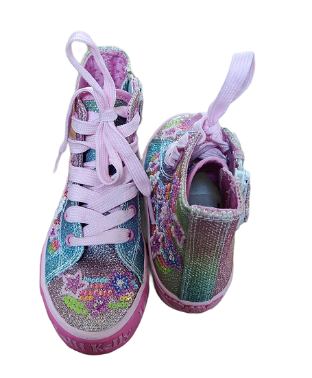 Lelli Kelly High Tops with colourful glitter detail