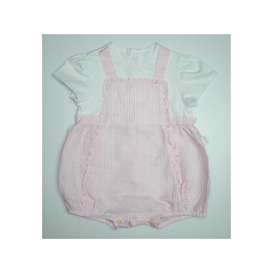 Il Gufo Striped Pink and White Romper